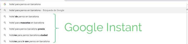 Resultados de Google Instant